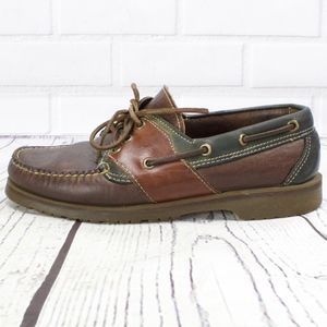 Orvis H.S. Trask Leather Loafers Boat Shoes Sz 7.5
